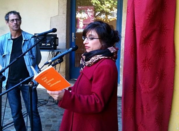 Lecture publique d'Aurélia Lassaque et de Joan-Pau Creissac. La langue d'Oc, une liberté créatrice (photo MN)