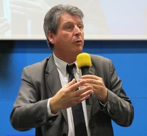 David Grosclaude, délégué d'Aquitaine aux langues régionales (occitan et basque) venait dans l'espoir de favoriser l'adhésion de Paca à l'Office Interrégional qui sera créé en 2014 pour aider et financer les politiques régionales de promotion de la langue d'oc (photo MN)
