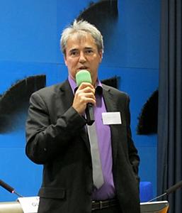 Le conseiller régional Hervé Guerrera au colloque d'Anem Oc le 30 novembre (photo MN)