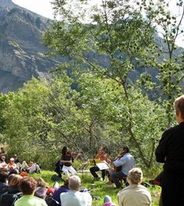 Mozart, en 2006, dans la Vallée du Champoléon. Possible grâce au Festival de Chaillol (photo MN)
