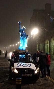 Edimbourg, avant le scrutin (photo JC DR)
