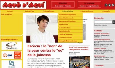 Comme dans un miroir, les lecteurs d'Aquò d'Aquí pourront en apprendre plus sur leur journal...en lisant le blog de Viure al País.