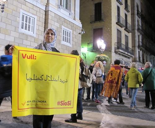 """Chati a quitté Marrakech voici 25 ans, et pense qu'avec """"une Catalogne indépendante nous serons plus libres"""" (photo MN)"""