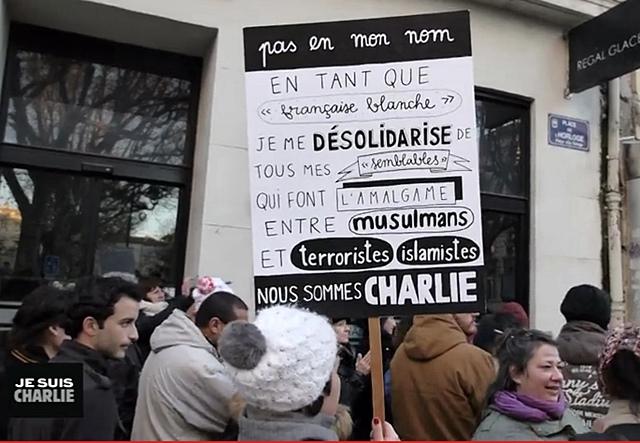 """C'est dit ! (In """"Je suis Charlie en Avignon"""" d'Emmanuel Brugvin DR)"""