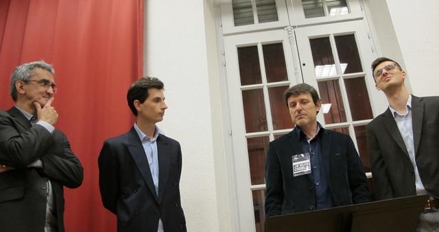 Le groupe vocal était invité à Aix par le Cep d'Oc le 15 janvier 2015. de g à d : Philippe Franceschi, Jean-Philippe Perdereau, Didier Maurel et Vincent Clabère (photo MN)