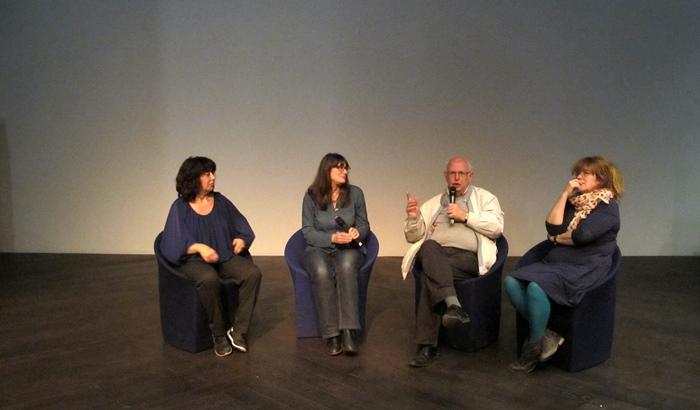 Sarah Benillouche, Caroline Troin, Felip Martel, Soazic Daniellou lors du débat post-films (photo MN)