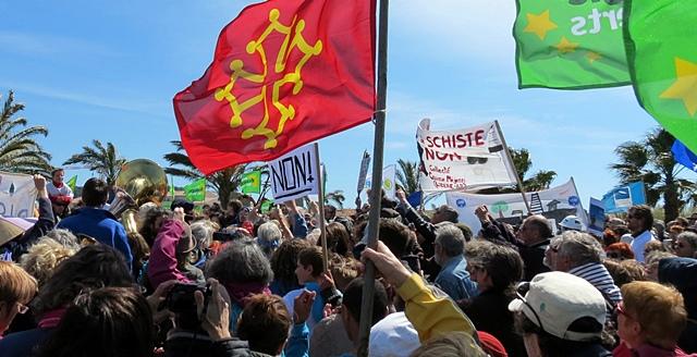 La Seyne, manifestation contre les permis de recherche, avril 2012 (photo MN)