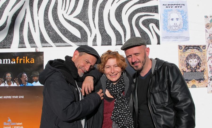 """Tatou, Manue, Blu, au BabelMed à Marseille. """"Pour que tout ça tienne et avance il faut une histoire d'amitié, c'est le moteur"""" (Photo MN)"""