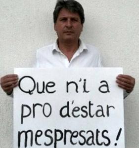 David Grosclaude a entamé une grève de la faim le 27 mai pour obtenir la publication au JO du décret portant création de l'Office de la langue occitane, pour lequel deux Conseils Régionaux ont délibéré voici plus d'un an (photo XDR)