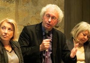 Le directeur Bernard Foccroulle entre Mayse Joissains (Aix) et Christine Mirauchaux (Région). Il a perdu son principal mécène mais en a retrouvé un in-extremis (photo MN)