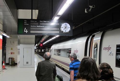 L'AVE à l'arrivée de Barcelona (photo MN)