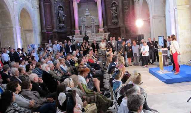 Des annonces attendues par beaucoup. Martine Vassal et Hervé Schiavetti dans la Chappele des Jésuites (photo MN)