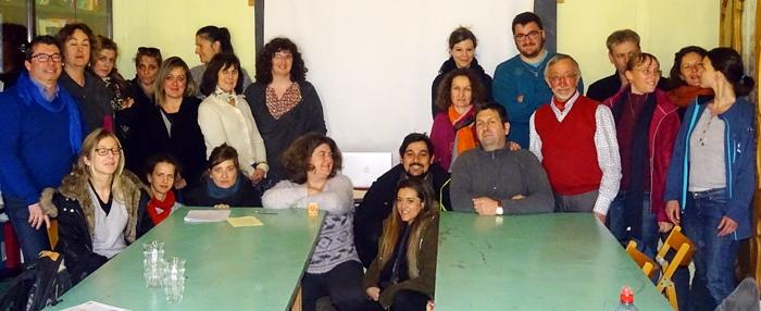 Le 24 février dernier les professeurs en formation des Calandretas en session au CDP avec Jean-Marc Courbet (photo XDR)