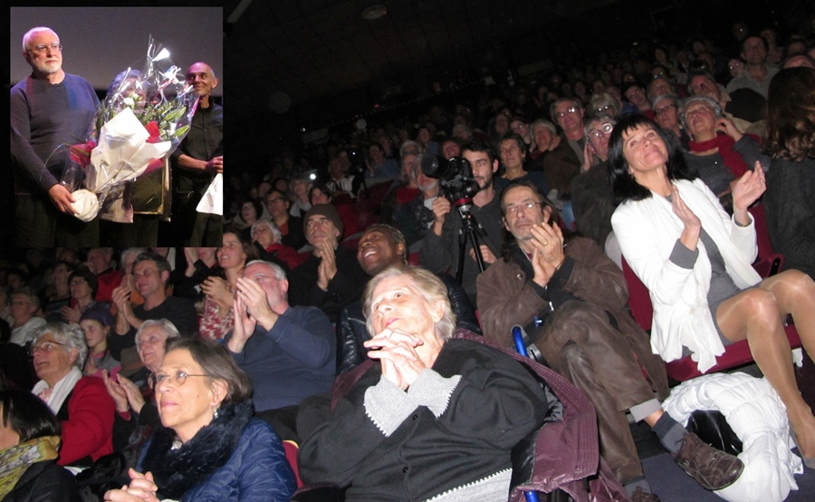 Jean-Yves Royer, Renat Sette...et le public à Forcalquier (photo MN)