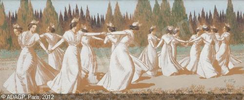 Les Arlésiennes de Leléé, plus sensibles que peintes par d'autres.