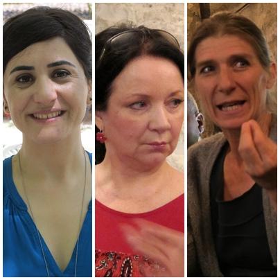 """Cigdem Aslan, Màrta Sebestyen et Elena de Renzio : """"Nous recueillons, puis transmettons la tradition, elle aide tout le monde à vivre mieux ensemble"""" (photo MN)"""
