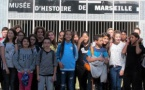 A Marseille et Aubagne les collégiens d'Argentona et d'Aubagne avaient beaucoup à se dire, en français ou en catalan (photo MN)
