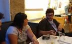 Premier verre, premier contact, premières conversations (photo MN)
