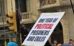 Les tribunaux pénaux espagnols admettent que des personnes physiques ou morales s'estimant lésées, intentent une action pénale, indépendante de celle du ministère public. Dans le cas des prisonniers d'opinion Catalans, c'est le partie d'extrême droite VOX, qui attaque en réclamant des peines très lourdes (photo MN)